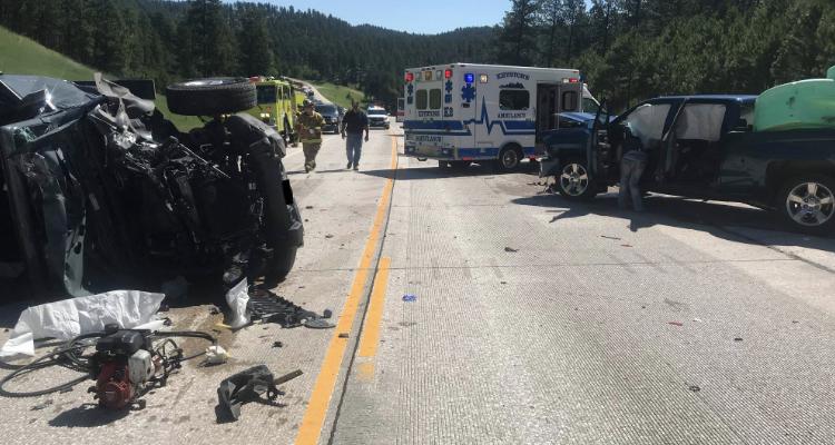 3 Vehicle Crash Near Keystone, SD Shut Down Hwy 16, Injures 9 – KASL